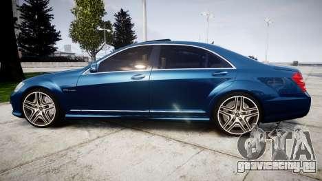 Mercedes-Benz S65 W221 AMG v2.0 rims2 для GTA 4 вид слева