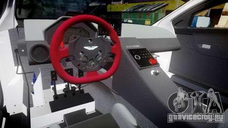 Aston Martin V12 Vantage GT3 2012 для GTA 4 вид изнутри
