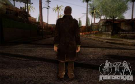 Aiden Pearce from Watch Dogs v8 для GTA San Andreas второй скриншот