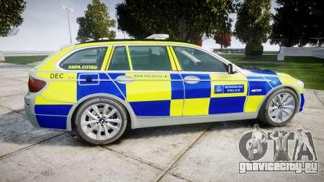 BMW 525d F11 2014 Police [ELS] для GTA 4 вид слева