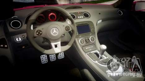 Mersedes-Benz SL65 AMG 2009 Sharpie для GTA 4 вид изнутри