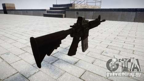 Тактический автомат M4 Black Edition для GTA 4 второй скриншот