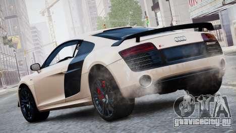 Audi R8 LMX 2015 EPM для GTA 4 вид слева