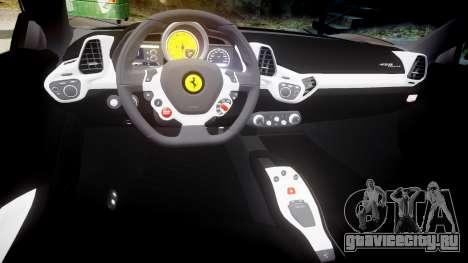 Ferrari 458 Italia 2010 v3.0 Slipknot для GTA 4 вид изнутри