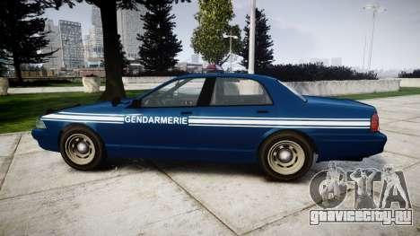 GTA V Vapid Police Cruiser Gendarmerie1 для GTA 4 вид слева