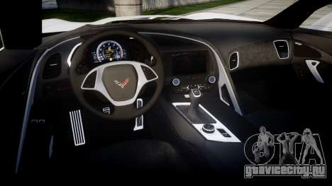 Chevrolet Corvette Stingray C7 2014 для GTA 4 вид изнутри