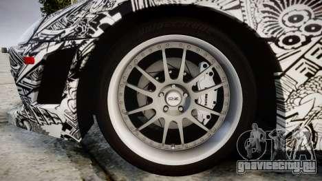 Toyota Supra 1998 Sharpie для GTA 4 вид сзади