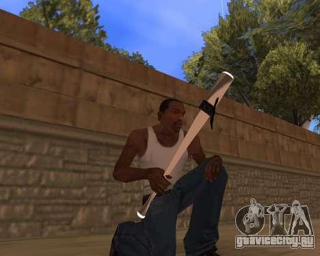 White Chrome Gun Pack для GTA San Andreas третий скриншот
