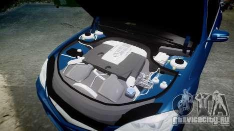 Mercedes-Benz S65 W221 AMG v2.0 rims2 для GTA 4 вид сверху