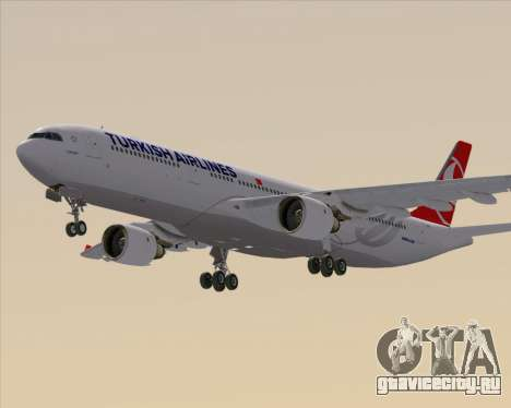Airbus A330-300 Turkish Airlines для GTA San Andreas вид сзади слева