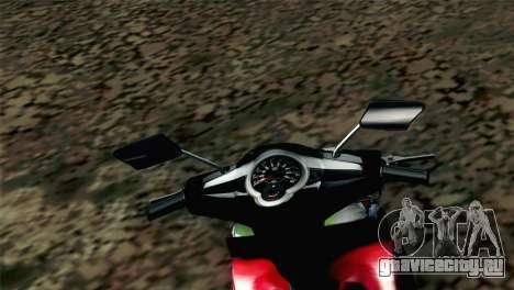 Jupiter Mx 2013 для GTA San Andreas вид сзади слева