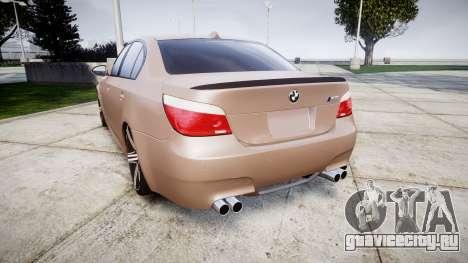 BMW M5 E60 v2.0 Wald rims для GTA 4 вид сзади слева