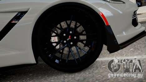 Chevrolet Corvette Z06 2015 для GTA 4 вид сзади слева