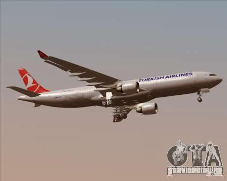 Airbus A330-300 Turkish Airlines для GTA San Andreas вид справа