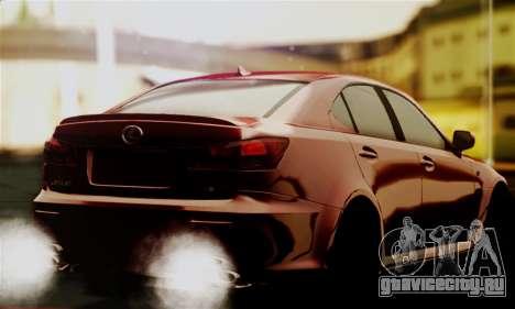 Lexus IS F для GTA San Andreas вид слева
