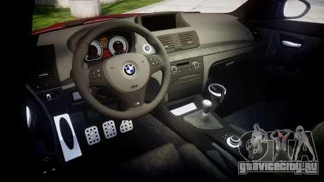 BMW 1M 2011 для GTA 4 вид изнутри