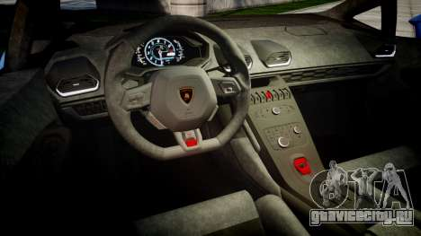 Lamborghini Huracan LP610-4 2015 для GTA 4 вид изнутри