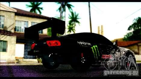 Nissan 180SX Monster Energy Spoiler для GTA San Andreas вид слева