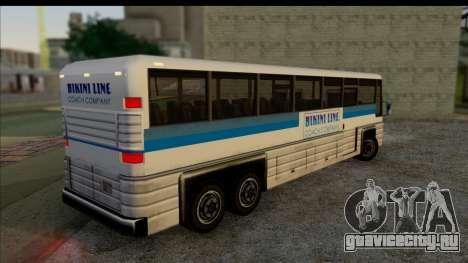 Coach с 3D интерьером для GTA San Andreas вид слева