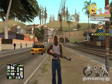 C-HUD Sponge Bob для GTA San Andreas второй скриншот