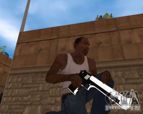 White Chrome Gun Pack для GTA San Andreas второй скриншот