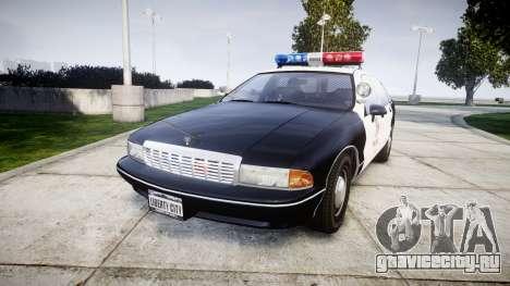 Chevrolet Caprice 1991 LAPD [ELS] Patrol для GTA 4