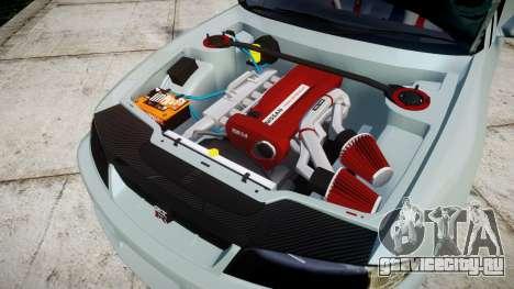 Nissan Skyline GT R33 1996 для GTA 4 вид изнутри