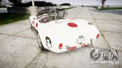 AC Cobra 427 PJ3 для GTA 4 вид сзади слева