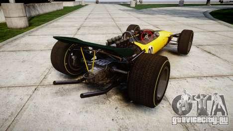 Lotus Type 49 1967 [RIV] PJ19-20 для GTA 4 вид сзади слева
