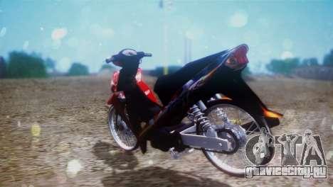 Yamaha Vega R 2007 для GTA San Andreas вид сзади слева