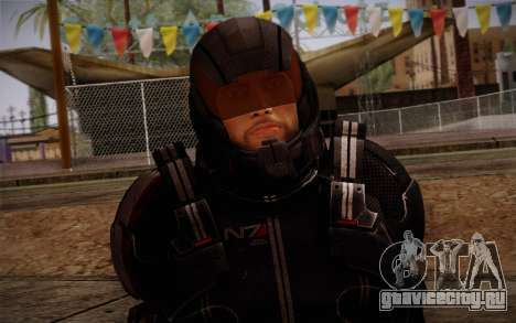 Shepard N7 Defender from Mass Effect 3 для GTA San Andreas третий скриншот
