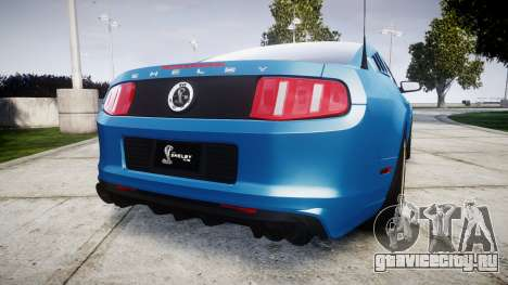 Ford Mustang Shelby GT500 2013 для GTA 4 вид сзади слева