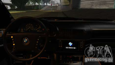 BMW M5 E39 Camouflage для GTA San Andreas вид сзади слева