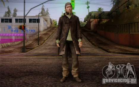 Aiden Pearce from Watch Dogs v8 для GTA San Andreas