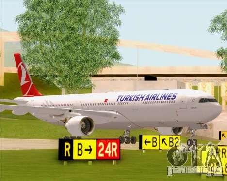 Airbus A330-300 Turkish Airlines для GTA San Andreas вид сбоку