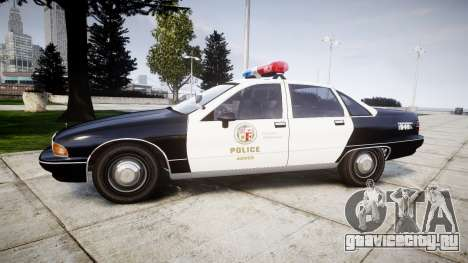 Chevrolet Caprice 1991 LAPD [ELS] Patrol для GTA 4 вид слева