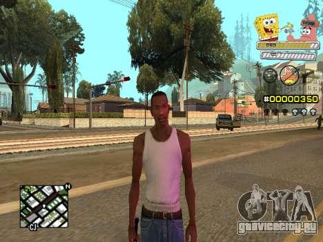 C-HUD Sponge Bob для GTA San Andreas шестой скриншот