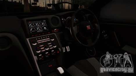 Nissan GTR-R35 для GTA San Andreas вид сзади слева
