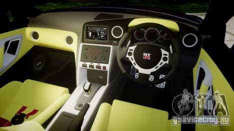 Nissan GT-R R35 2012 Sharpie для GTA 4 вид изнутри