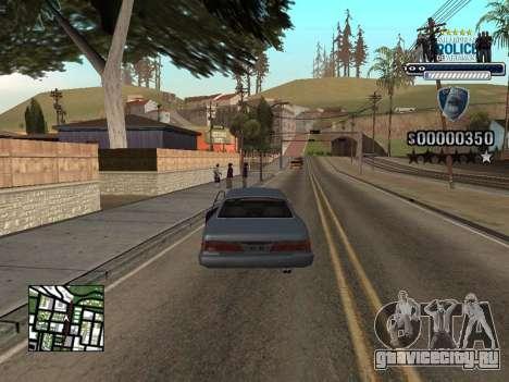 Police HUD для GTA San Andreas третий скриншот