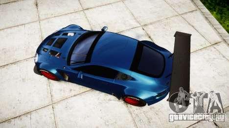 Aston Martin V12 Vantage GT3 2012 для GTA 4 вид справа