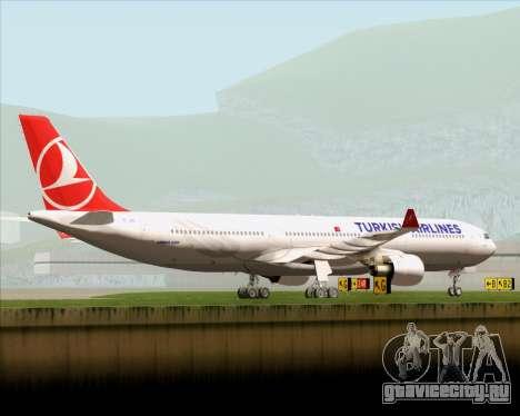 Airbus A330-300 Turkish Airlines для GTA San Andreas вид снизу
