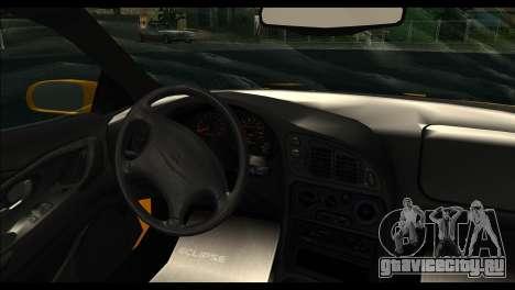 Mitsubishi Eclipce 1999 для GTA San Andreas вид сзади слева