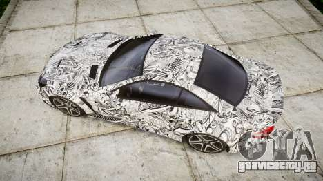 Mersedes-Benz SL65 AMG 2009 Sharpie для GTA 4 вид справа