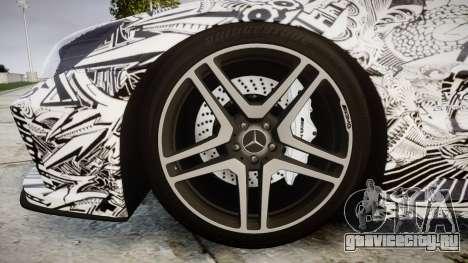 Mersedes-Benz SL65 AMG 2009 Sharpie для GTA 4 вид сзади