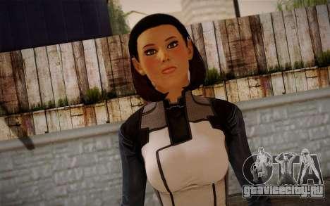 Dr. Eva Core New face from Mass Effect 3 для GTA San Andreas третий скриншот