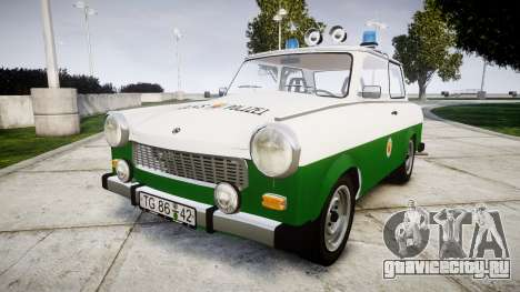 Trabant 601 deluxe 1981 Police для GTA 4