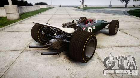 Lotus Type 49 1967 [RIV] PJ1-2 для GTA 4 вид сзади слева