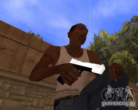 White Chrome Gun Pack для GTA San Andreas четвёртый скриншот
