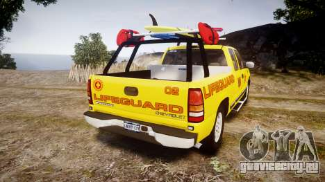 Chevrolet Silverado Lifeguard Beach [ELS] для GTA 4 вид сзади слева